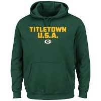 Green Bay Packers Majestic Hot Phrase Pullover Hoodie Green