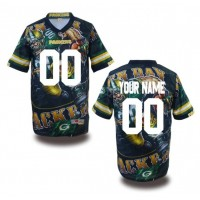Green Bay Packers NFL Customized Fanatic Version Jersey