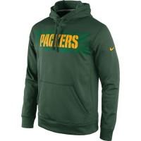Green Bay Packers Nike KO Speed Wordmark Performance Hoodie Green