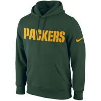 Green Bay Packers Nike KO Wordmark Performance Hoodie Green