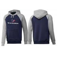Houston Texans Authentic Logo Pullover Hoodie Dark Blue & Grey