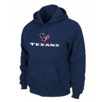 Houston Texans Authentic Logo Pullover Hoodie Dark Blue