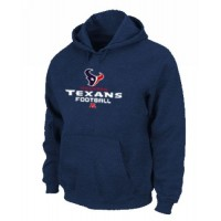 Houston Texans Critical Victory Pullover Hoodie Dark Blue