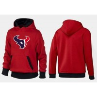 Houston Texans Logo Pullover Hoodie Red & Black