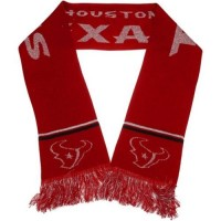 Houston Texans Red Metallic Thread Scarf