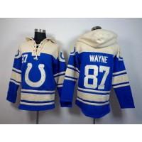 Indianapolis Colts #87 Reggie Wayne Royal Blue Sawyer Hooded Sweatshirt NFL Hoodie