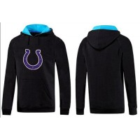 Indianapolis Colts Logo Pullover Hoodie Black & Blue
