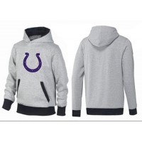Indianapolis Colts Logo Pullover Hoodie Grey & Black