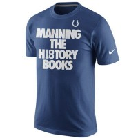 Indianapolis Colts Peyton Manning Nike History Books Name & Number T-Shirt Royal Blue