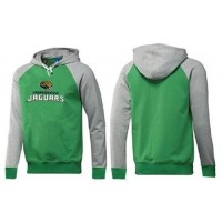 Jacksonville Jaguars Authentic Logo Pullover Hoodie Green & Grey