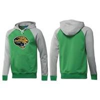 Jacksonville Jaguars Logo Pullover Hoodie Green & Grey