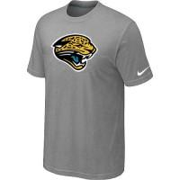 Jacksonville Jaguars Sideline Legend Authentic Logo Dri-FIT Nike NFL T-Shirt Light Grey