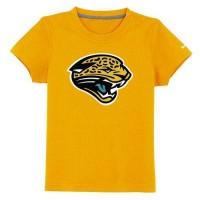 Jacksonville Jaguars Sideline Legend Authentic Logo Youth T-Shirt Yellow