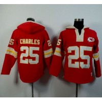 Kansas City Chiefs #25 Jamaal Charles Red Player Winning Method Pullover NFL Hoodie