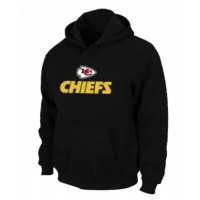Kansas City Chiefs Authentic Logo Pullover Hoodie Black