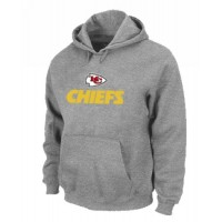 Kansas City Chiefs Authentic Logo Pullover Hoodie Grey