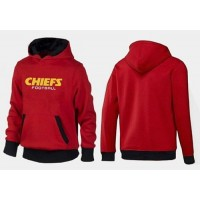 Kansas City Chiefs English Version Pullover Hoodie Red & Black