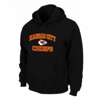 Kansas City Chiefs Heart & Soul Pullover Hoodie Black