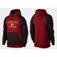 Kansas City Chiefs Heart & Soul Pullover Hoodie Burgundy Red & Black