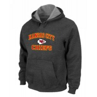 Kansas City Chiefs Heart & Soul Pullover Hoodie Dark Grey