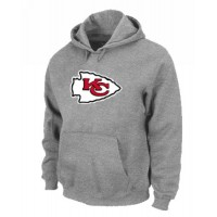 Kansas City Chiefs Logo Pullover Hoodie Grey