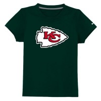 Kansas City Chiefs Sideline Legend Authentic Logo Youth T-Shirt Dark Green