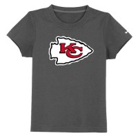Kansas City Chiefs Sideline Legend Authentic Logo Youth T-Shirt Dark Grey