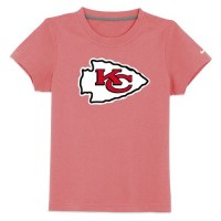 Kansas City Chiefs Sideline Legend Authentic Logo Youth T-Shirt Pink