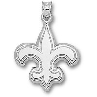 LogoArt New Orleans Saints Sterling Silver