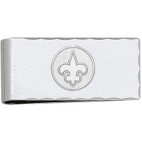 LogoArt New Orleans Saints Sterling Silver Money Clip
