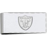 LogoArt Oakland Raiders Sterling Silver Money Clip