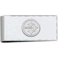 LogoArt Pittsburgh Steelers Sterling Silver Money Clip