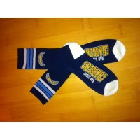 Los Angeles Chargers Team Logo Blue NFL Socks
