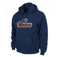 Los Angeles Rams Authentic Logo Pullover Hoodie Dark Blue