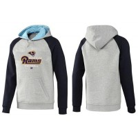 Los Angeles Rams Critical Victory Pullover Hoodie Grey & Blue