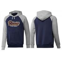 Los Angeles Rams English Version Pullover Hoodie Dark Blue & Grey