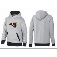 Los Angeles Rams Logo Pullover Hoodie Grey & Black