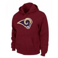 Los Angeles Rams Logo Pullover Hoodie Red
