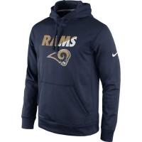 Los Angeles Rams Nike Kick Off Staff Performance Pullover Hoodie Navy