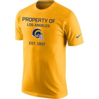 Los Angeles Rams Nike Property Of Performance T-Shirt Gold