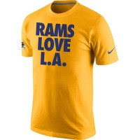 Los Angeles Rams Nike Rams Love L. A.T-Shirt Gold