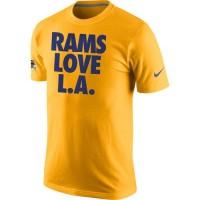 Los Angeles Rams Nike Rams Love L. A.T-Shirt Gold