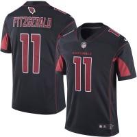 Men's Arizona Cardinals #11 Larry Fitzgerald Nike Black Color Rush Limited Jersey