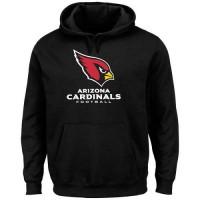 Men's Arizona Cardinals Black Critical Victory Pullover Hoodie