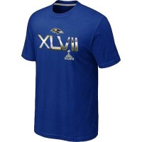 Men's Baltimore Ravens 2012 Super Bowl XLVII On Our Way T-Shirt Blue