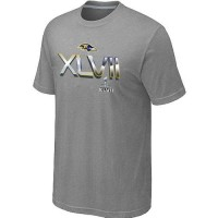 Men's Baltimore Ravens 2012 Super Bowl XLVII On Our Way T-Shirt Light Grey