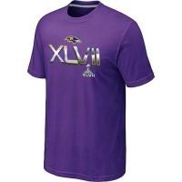 Men's Baltimore Ravens 2012 Super Bowl XLVII On Our Way T-Shirt Purple