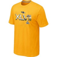 Men's Baltimore Ravens 2012 Super Bowl XLVII On Our Way T-Shirt Yellow