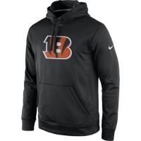 Men's Cincinnati Bengals Nike Black Practice Performance Pullover Hoodie