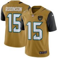 Men's Jacksonville Jaguars #15 Allen Robinson Nike Gold Color Rush Limited Jersey